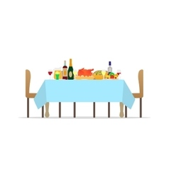 table for festive holiday romantic dinner vector image vector image