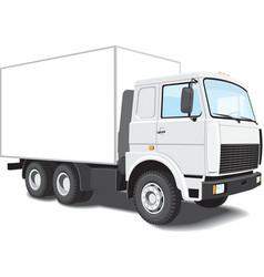 white truck vector image