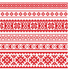 sami seamless pattern lapland folk art vector image vector image