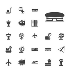 22 plane icons vector