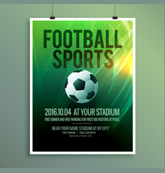 Abstract football sports flyer poster template vector