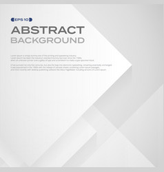 abstract of square white paper pattern in layers vector image