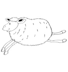 Animal outline for jumping sheep vector