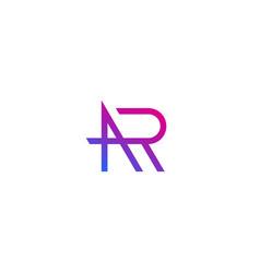 Ar letters initials logo design vector
