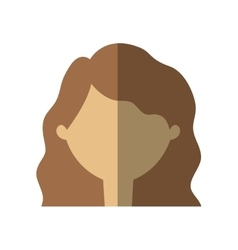 Avatar woman face shadow vector