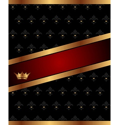 Background with golden luxury crown - vector