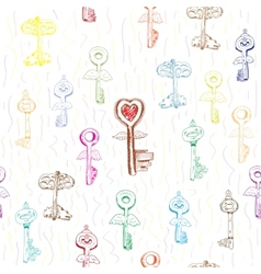 Background with Keys vector image