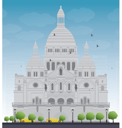 Basilica of the Sacred Heart vector image