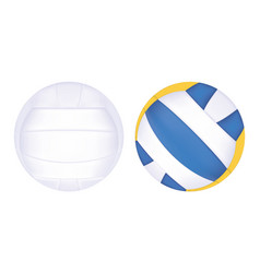 beach volleyball on a white background vector image