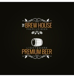 Beer label set background vector