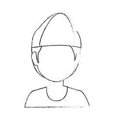 Boy faceless avatar vector