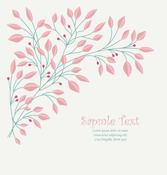 Branches of leaves vector