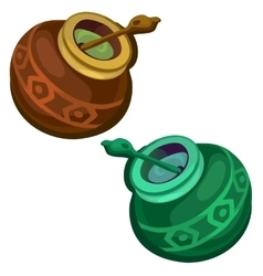Brown and green gourd with mate tea vector