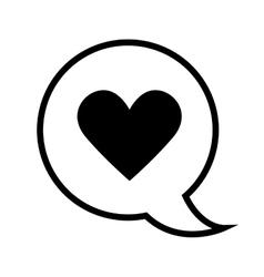 Bubble heart love vector