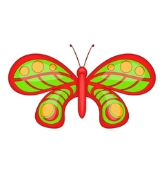 Butterfly with ornament icon cartoon style vector