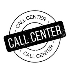 Call center rubber stamp vector