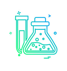 chemical flask icon design vector image
