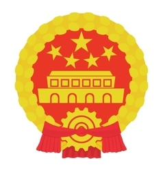 Chinese coin icon cartoon style vector
