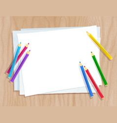 color pencils lying on paper vector image