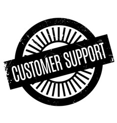 Customer support rubber stamp vector