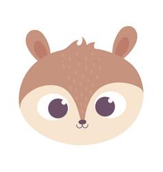 cute squirrel animal face cartoon isolated design vector image
