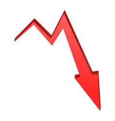 Decrease arrow symbol red icon business concept vector