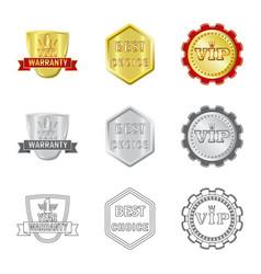 Design emblem and badge sign set of vector