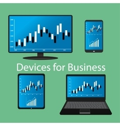Devices for Business flat design vector