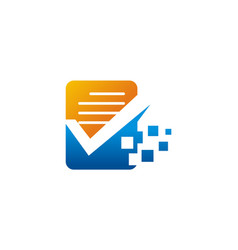 document data technology logo vector image