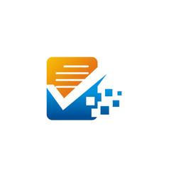 Document data technology logo vector