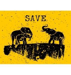 Elephants concept vector image