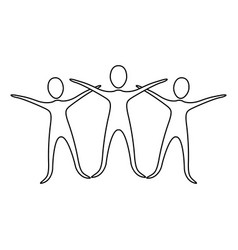 figure people raise their hands vector image