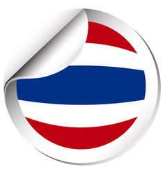 Flag of thailand in round shape vector