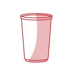 Flat line cup design vector