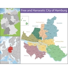 Free and Hanseatic City of Hamburg vector