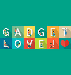 Gadget love banner vector
