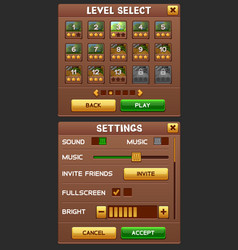 game gui pack vector image
