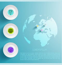 global infographic template vector image