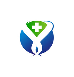 global medical logo design template vector image
