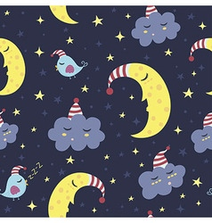 Good night seamless pattern vector