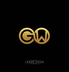 gw initial letter linked circle capital monogram vector image
