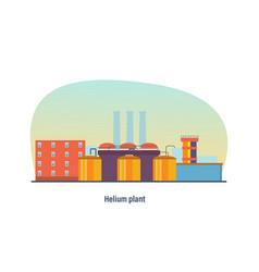 Helium plant storage transportation enterprise vector
