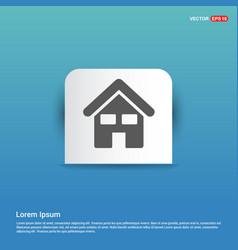 home icon - blue sticker button vector image