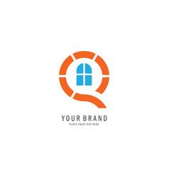 home letter q logo vector image