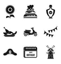 hootch icons set simple style vector image