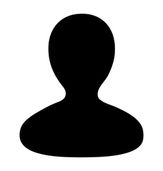 Human Man User Profile Avatar Glyph Icon vector image