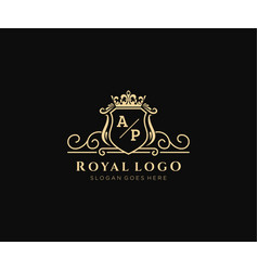 Initial ap letter luxurious brand logo template vector