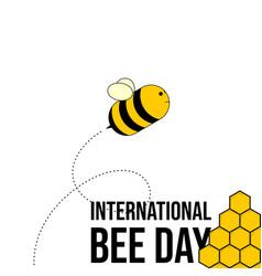 International bee day vector