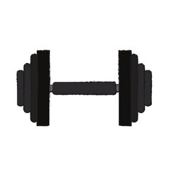 Iron gym weights vector
