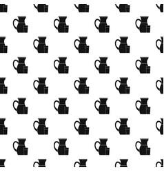 Jug of milk pattern vector